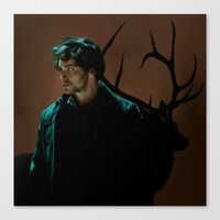 will graham Canvas Prints featuring Will Graham by Palloma