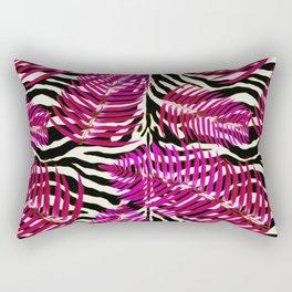 Zebra in cherry Rectangular Pillow