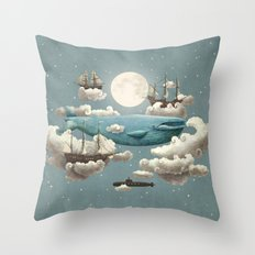Ocean Meets Sky - colour option Throw Pillow
