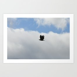 Eagle in the clouds 1 Art Print