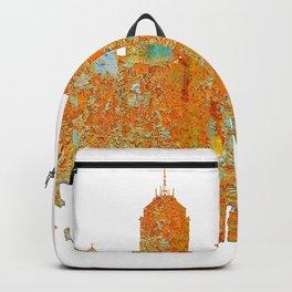 Fresno, California Skyline - Rust Backpack