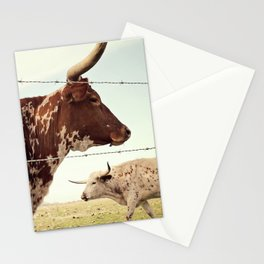 Texas Longhorn Cattle Stationery Cards