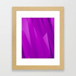 Geo Purple Framed Art Print