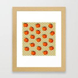 Cascading Pumpkins Framed Art Print