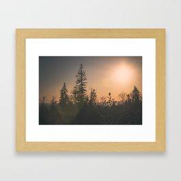 Last October Light Framed Art Print