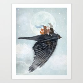 the light bird Art Print