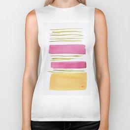 17   |181026 Lines & Color Block | Watercolor Abstract | Modern Watercolor Art Biker Tank