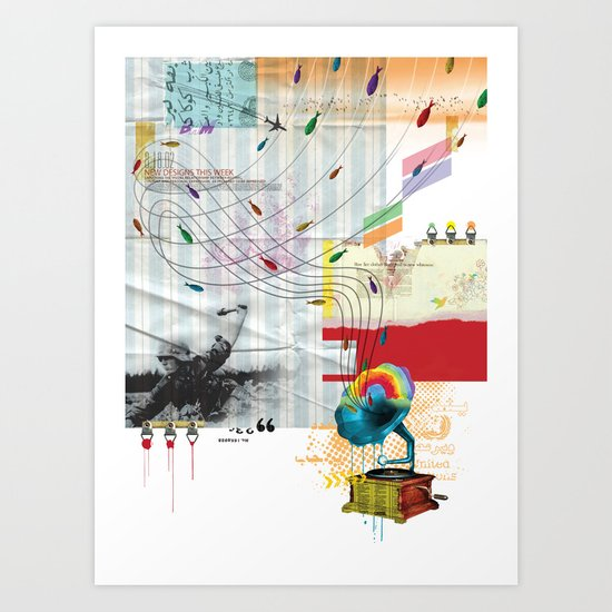 War Antheme Art Print