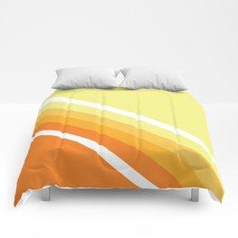 Retro Orange n' Yellow Lines Comforters