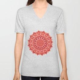 Flower Mandala Blush Unisex V-Neck