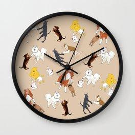 Dancing dogs Wall Clock