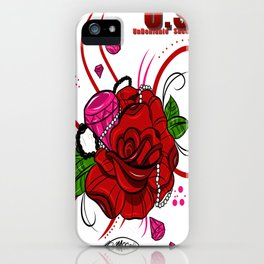 Rose & Diamonds iPhone Case