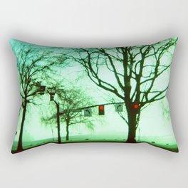 Green Fog Rectangular Pillow