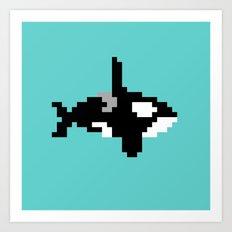 8-bit Orca Art Print