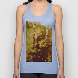 Bokeh Blurred Orange Yellow gold lights Sparkle Glitter Dots circles Pattern Blurred Unisex Tank Top