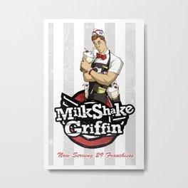 Milkshake Griffin Metal Print