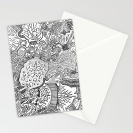 Abstract Pen & Ink #1 Stationery Cards