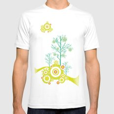 Spring Tree White MEDIUM Mens Fitted Tee
