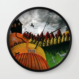 Hilly Haven Wall Clock