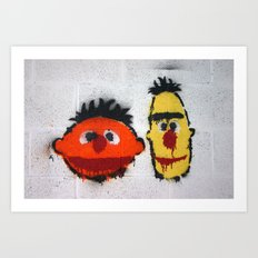 Bert and Ernie, Sesame Street, Graffiti Art Print