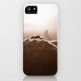 I saw a devil today :) iPhone Case