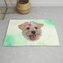 Snauzer Flower Dog Rug