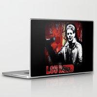lou reed Laptop & iPad Skins featuring Lou by Alan Hogan