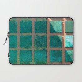 Mid-Century Modern Green Aqua Panel Doors Laptop Sleeve