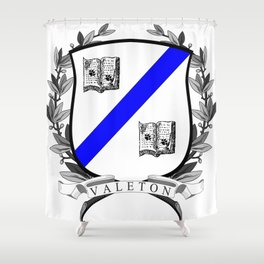 Valeton University Crest Shower Curtain