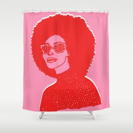 Kara Pink Shower Curtain