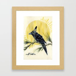 Dapper Raven Framed Art Print