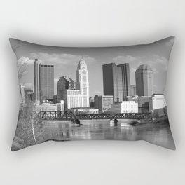 Columbus Ohio 3 - B&W Rectangular Pillow