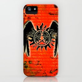 Saving People, Hunting Things iPhone Case