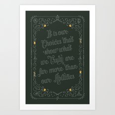 Harry Potter Typographic Quote Art Print