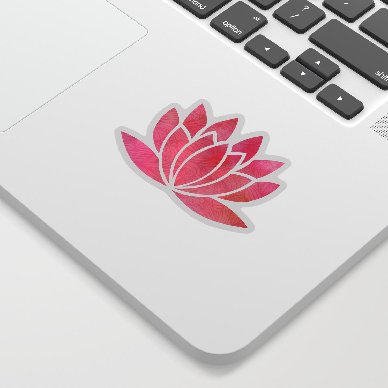 Zen Watercolor Lotus Flower Yoga Symbol Sticker By Ruthart Society6