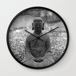 Sitting Buddha Wall Clock