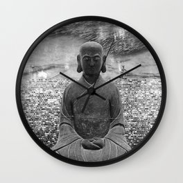 Sitting Buddha Wall Clock