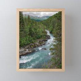 Alaska River Canyon - II Framed Mini Art Print