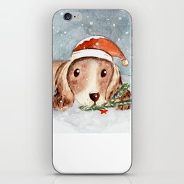 Christmas Puppy Look iPhone Skin