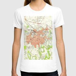 Vintage Map of Lancaster Pennsylvania (1956) 2 T-shirt