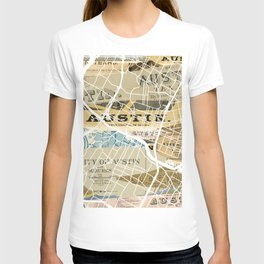 Austin map T-shirt