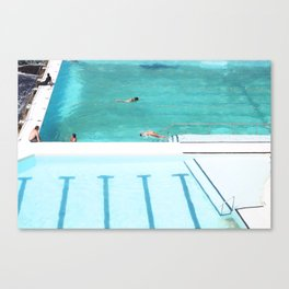 Pool lines Canvas Print