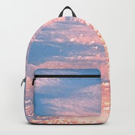 Pink Clouds in Bright Blue Sky Backpack