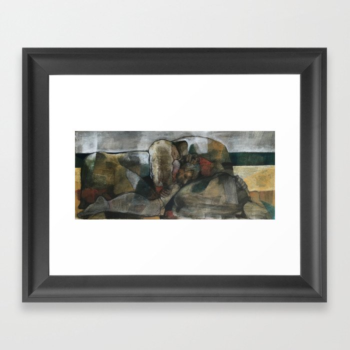 The Beach Series:  Nap On The Beach Framed Art Print
