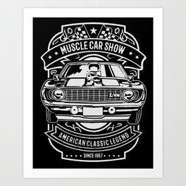 muscle car show american classic legend Art Print