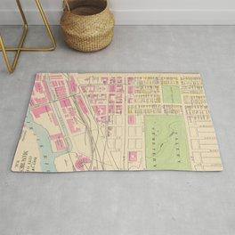 Vintage Map of Manchester NH (1892) (2) Rug