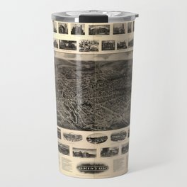 Bird's Eye View of Bristol, Connecticut (1907) Travel Mug
