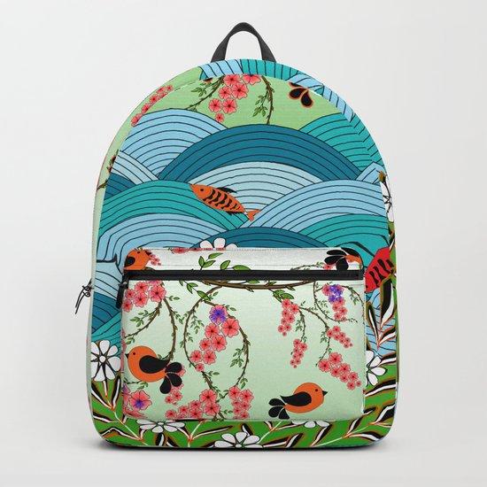 beautiful river Backpack
