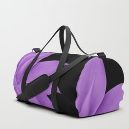 Agave Finesse #10 - Purple on Black #tropical #decor #art #society6 Duffle Bag