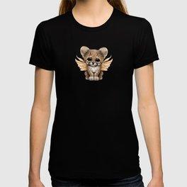 Cute Baby Cheetah Cub with Fairy Wings T-shirt